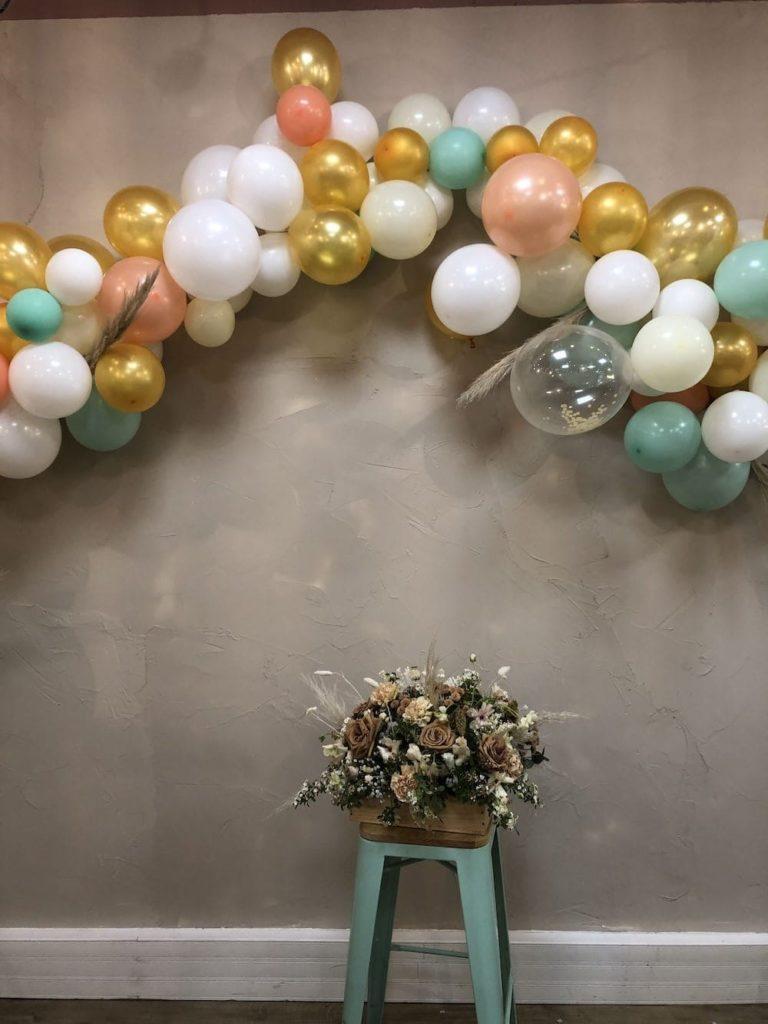 arche de ballon décoration inauguration locaux